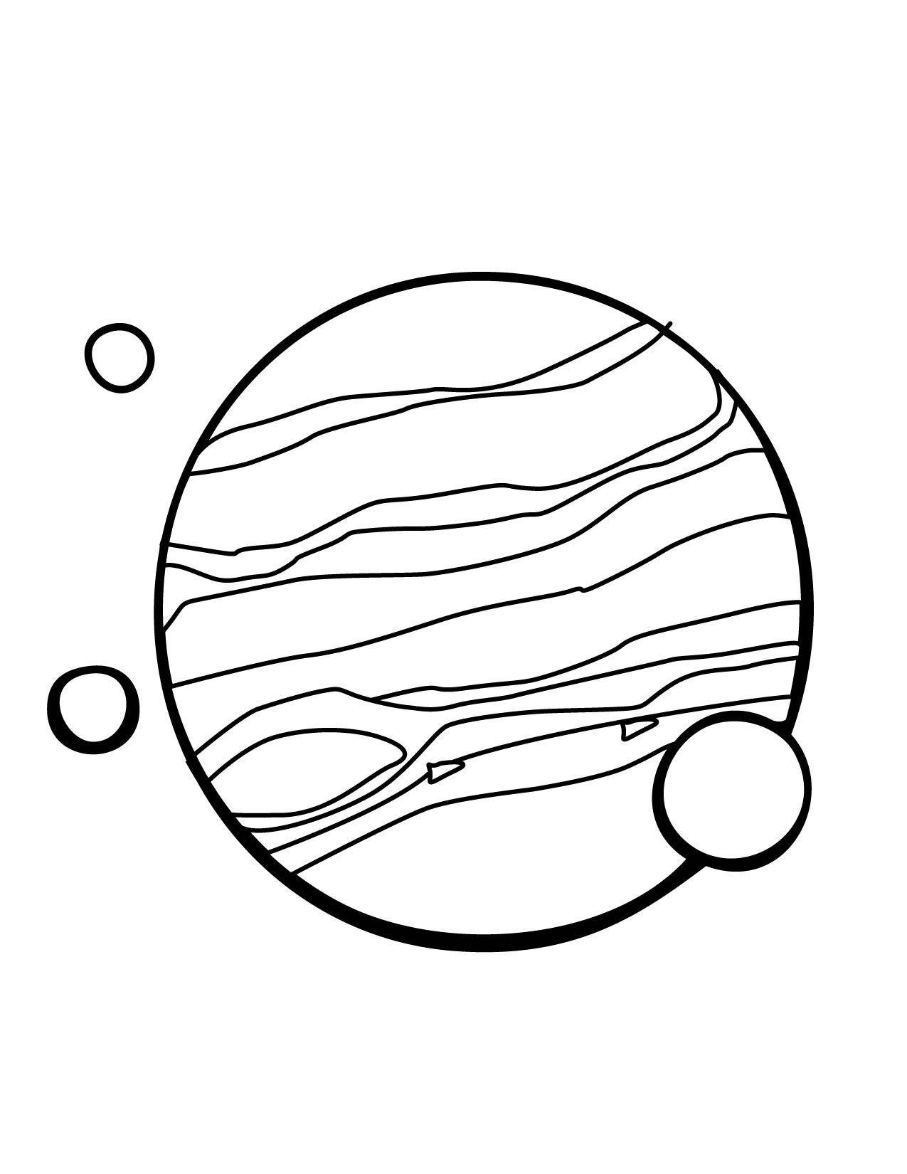 jupiter planet line drawings - photo #8