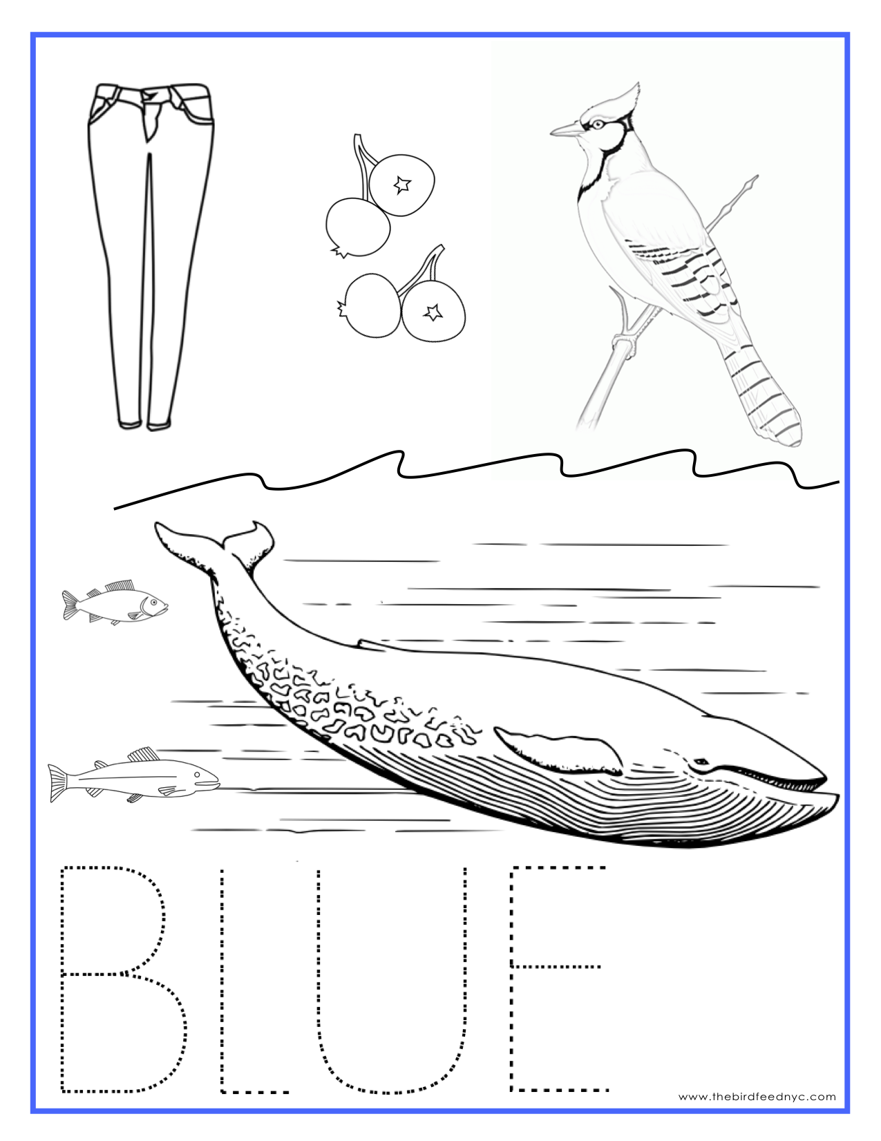 Printable coloring sheets for Blue coloring page