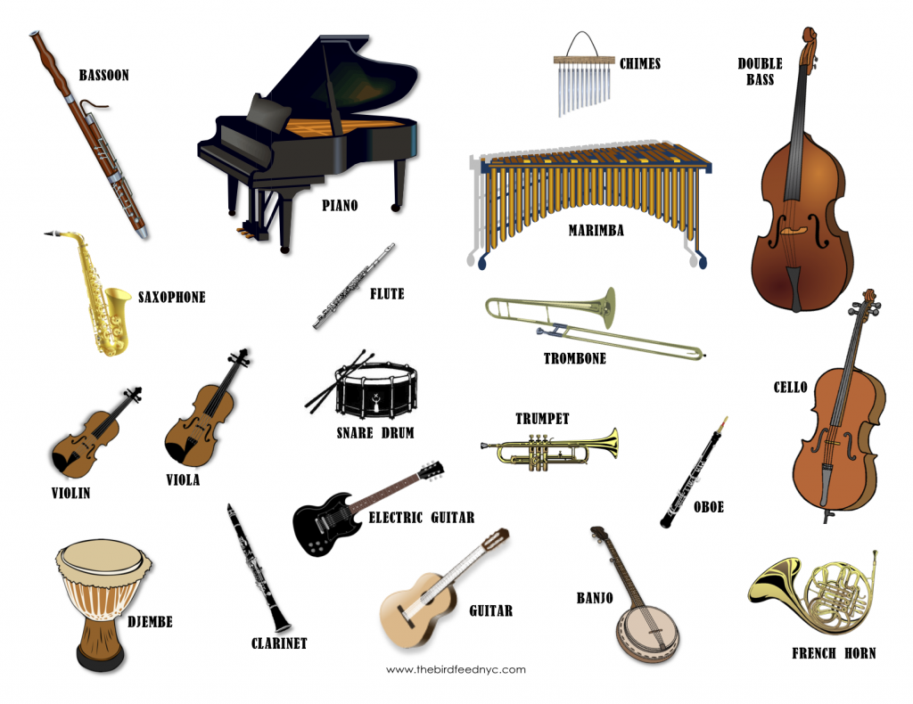 the definite article with musical instruments