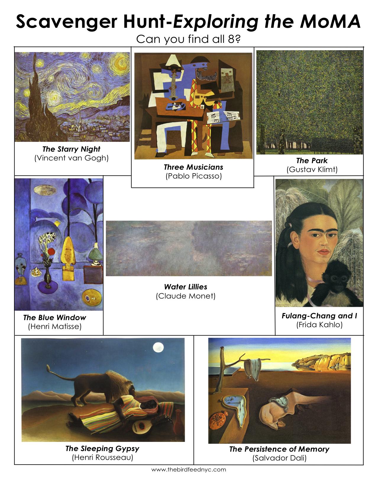 Scavenger Hunt for Kids: Exploring the MoMA