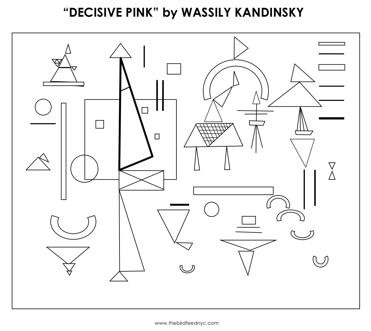 kandinsky coloring activity for kids