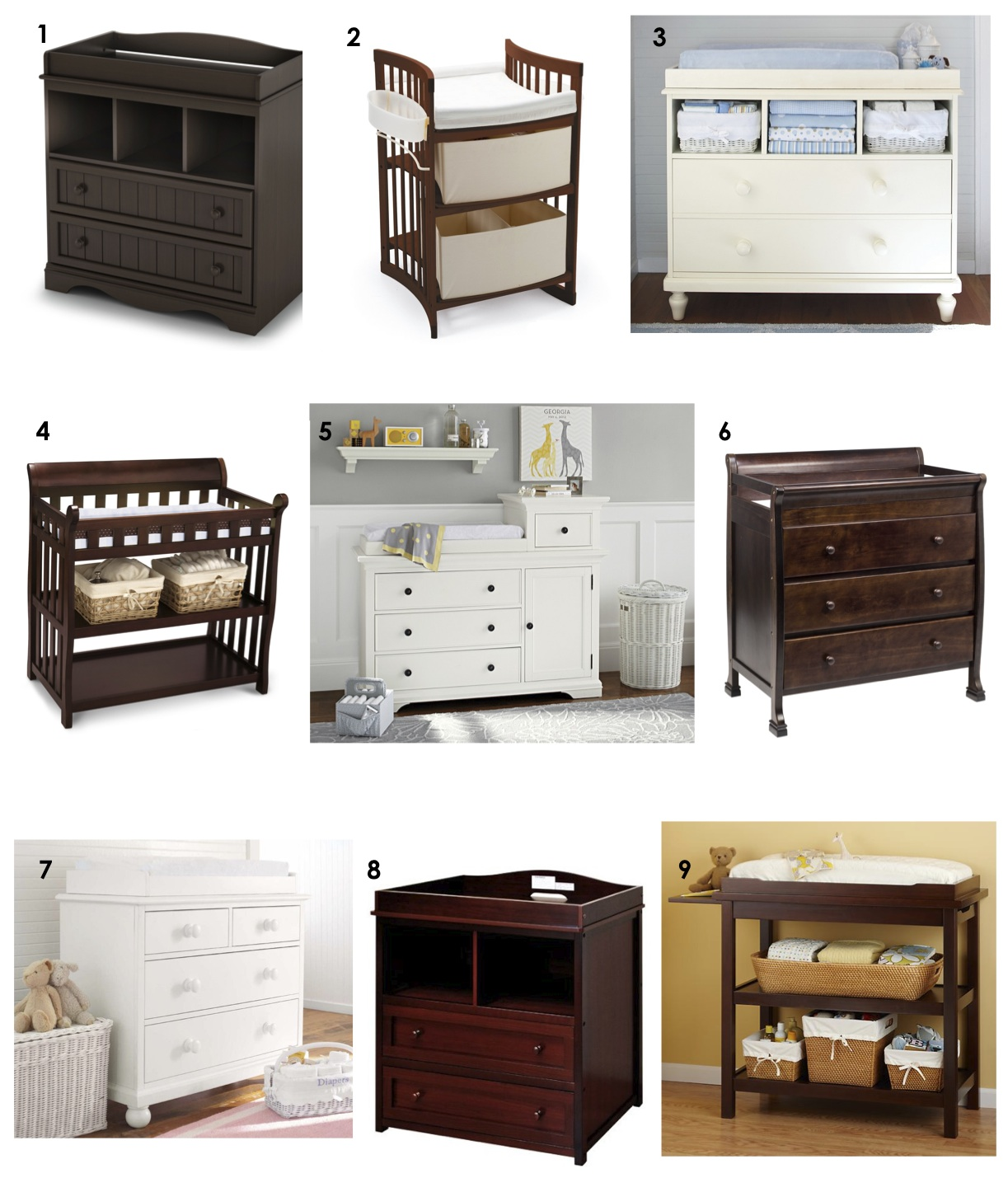 Diaper Changing Tables 9 Favorites