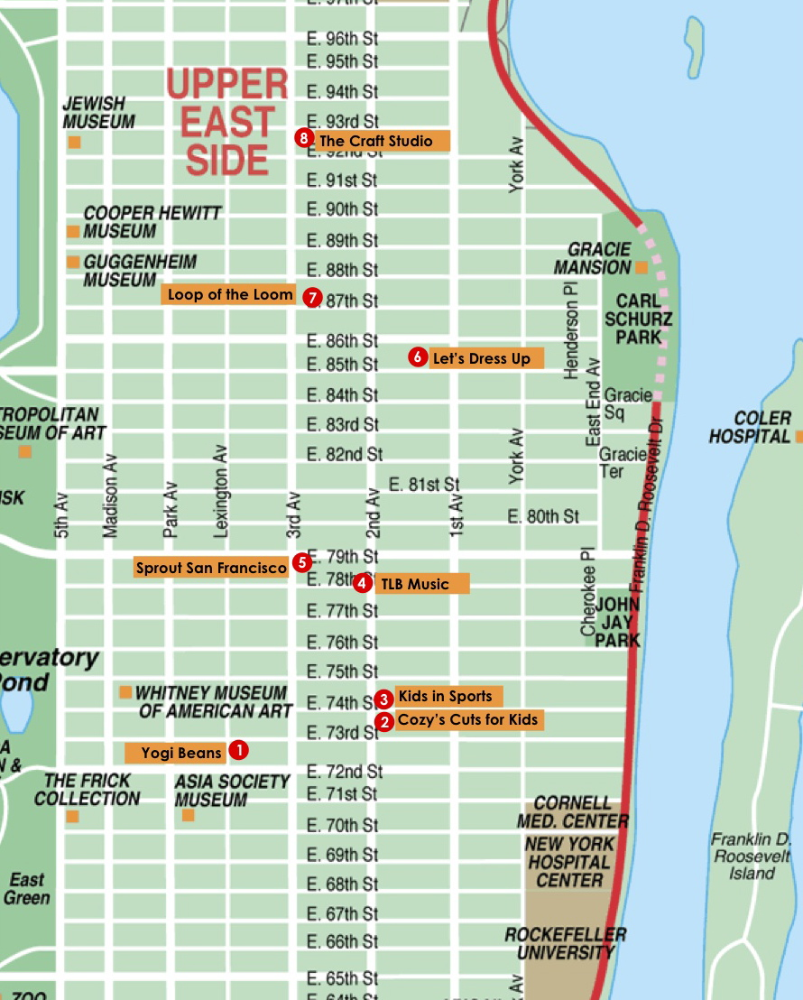 Upper East Side Classes and Places for Kids