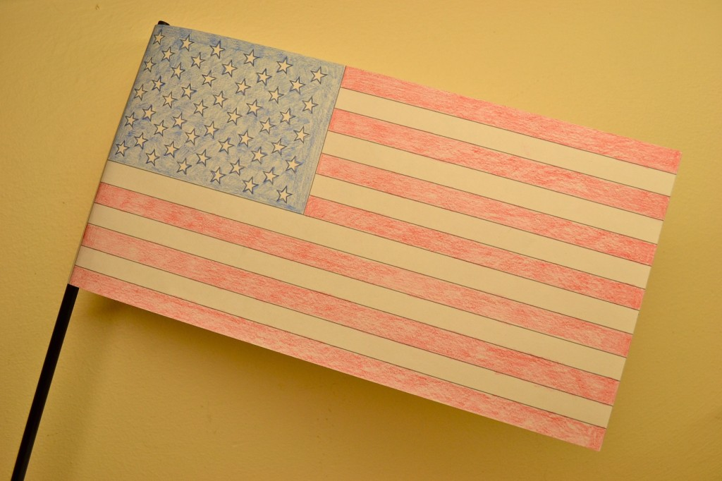 american flag coloring activity for kids
