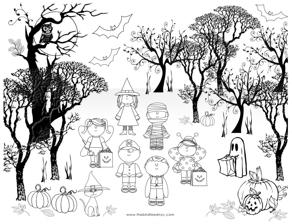halloween coloring sheet for kids
