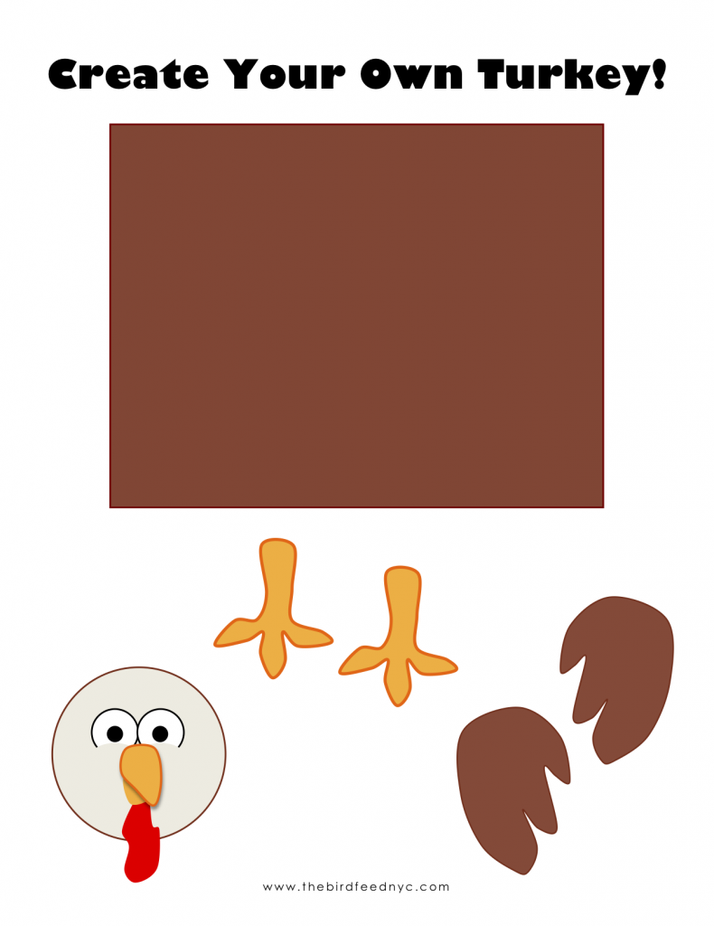 Printable Activity for Kids: Create Your Own Turkey!