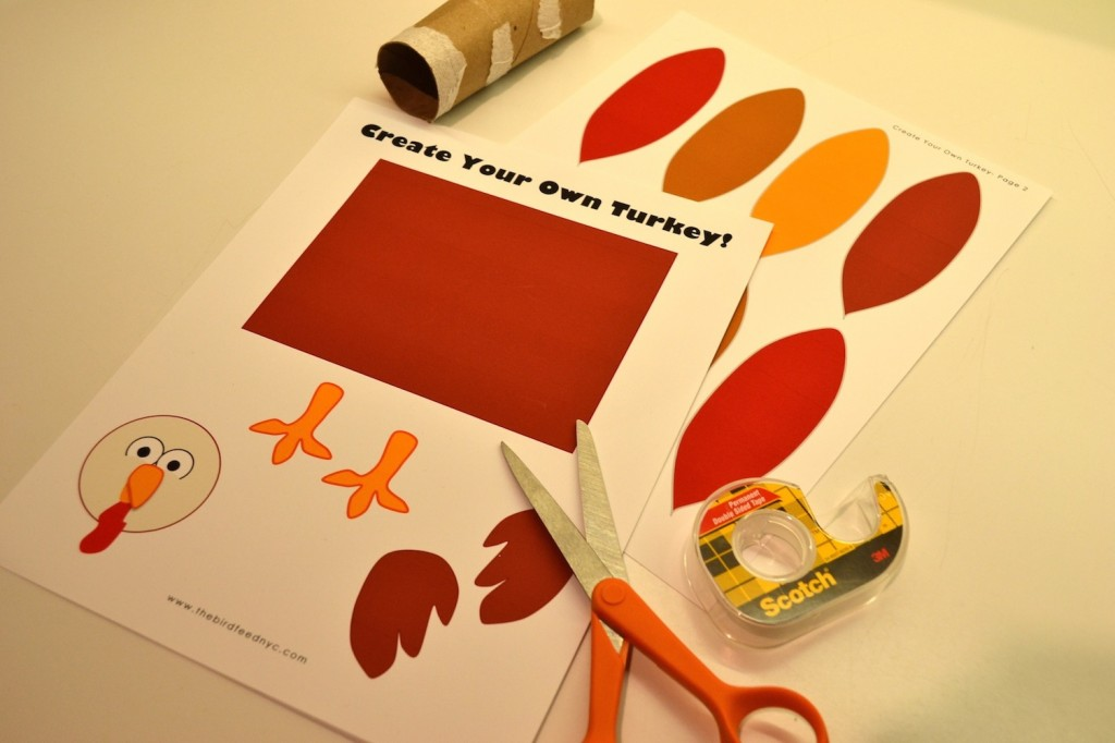 printable activity for kids  create your own turkey