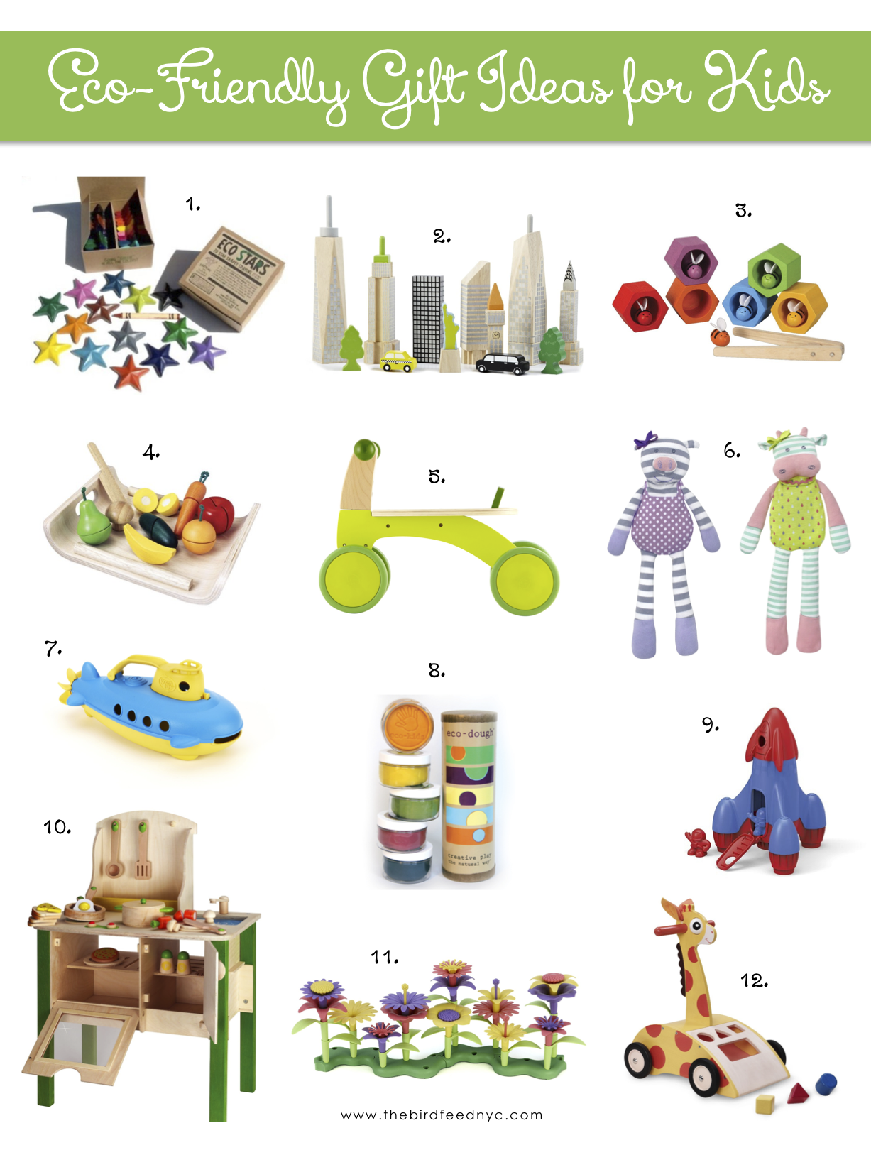 12 Eco Friendly Gift Ideas for Kids