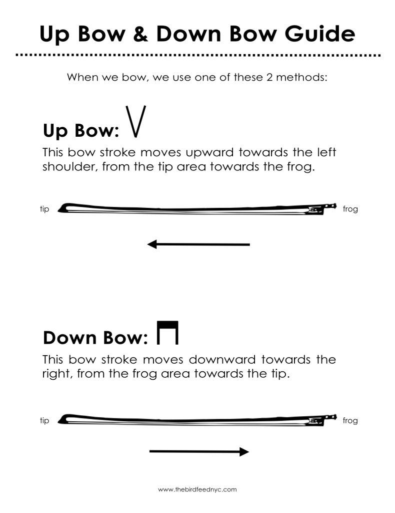 Violin Activity Sheets: Up & Down Bow Guide & Practice