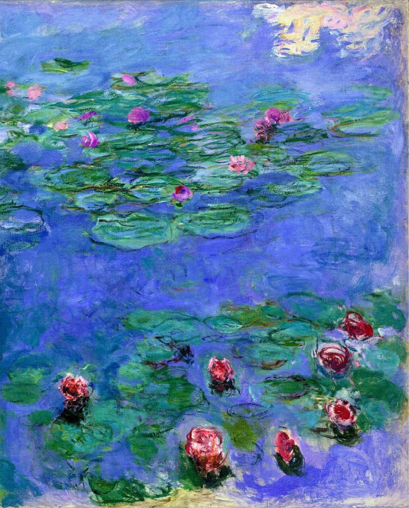 monet inspired water lily pond art project for kids