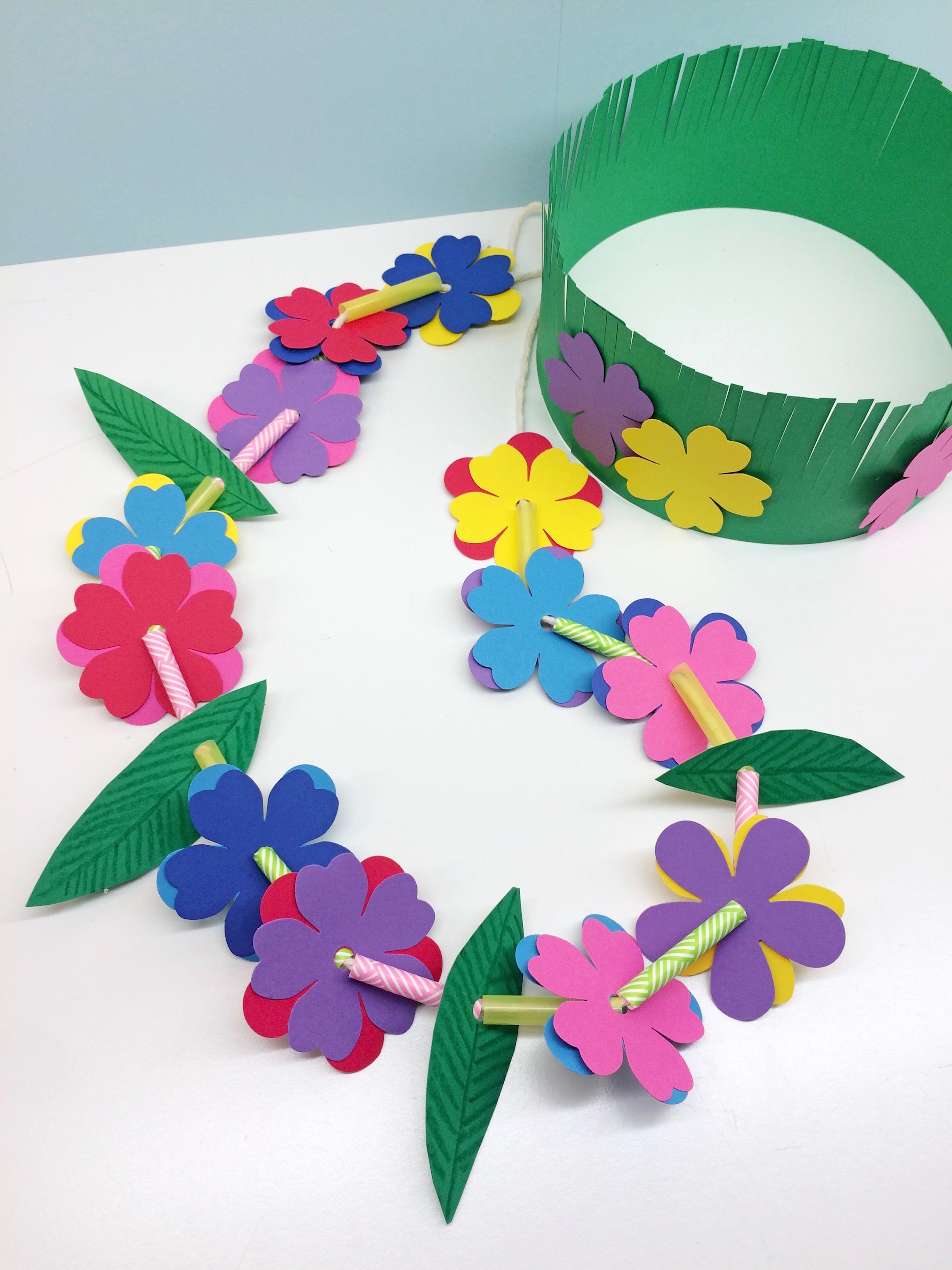 Craft For Kids Hawaiian Lei Grass Crown