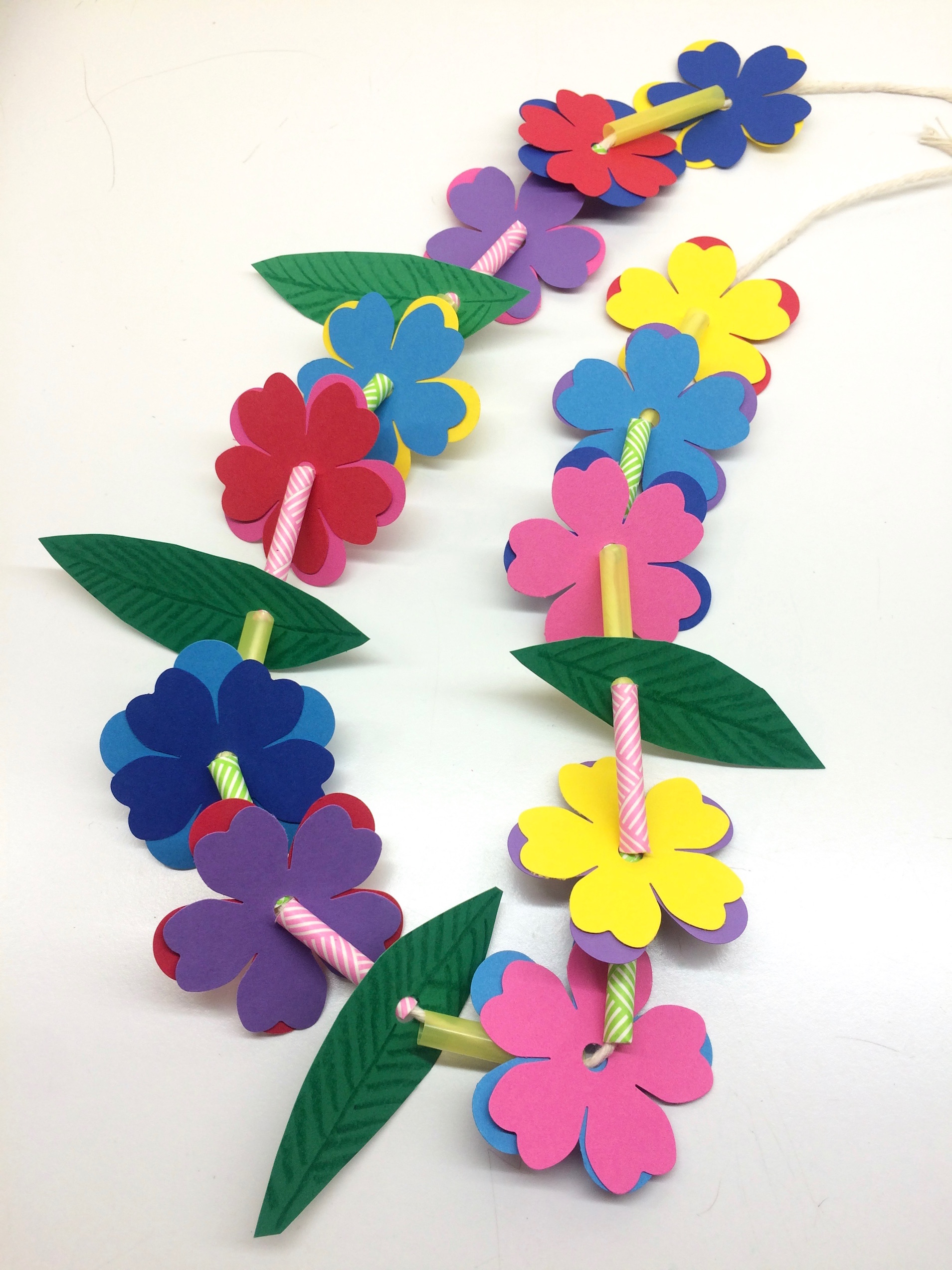 craft necklace hawaiian this week lei grass kids project for crown